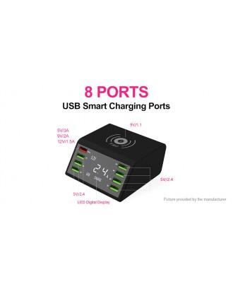 Multifunctional 8-Port USB Charger w/ Qi Wireless Charging Pad (EU)