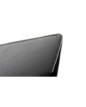 """Universal Protective Leather Pouch Case for 7"""" Tablet (Black)"""