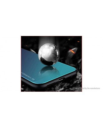 Gradient Color Tempered Glass + Soft TPU Protective Case Cover for OnePlus 7T